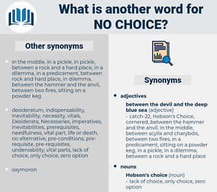 no choice, synonym no choice, another word for no choice, words like no choice, thesaurus no choice