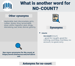 no-count, synonym no-count, another word for no-count, words like no-count, thesaurus no-count