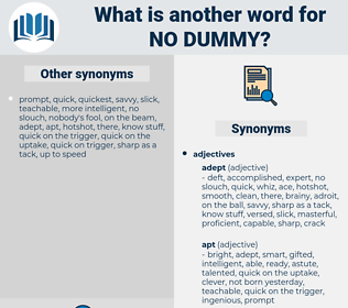 no dummy, synonym no dummy, another word for no dummy, words like no dummy, thesaurus no dummy