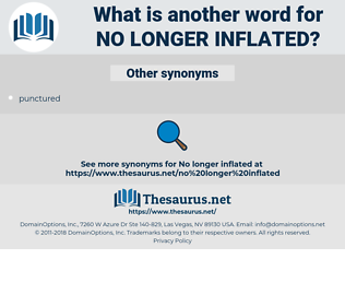 no longer inflated, synonym no longer inflated, another word for no longer inflated, words like no longer inflated, thesaurus no longer inflated