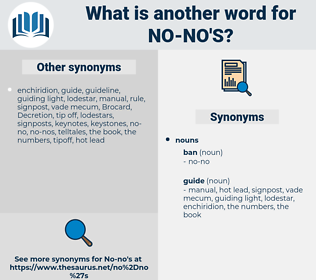 no-no's, synonym no-no's, another word for no-no's, words like no-no's, thesaurus no-no's