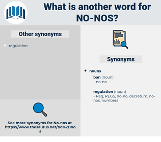 no nos, synonym no nos, another word for no nos, words like no nos, thesaurus no nos