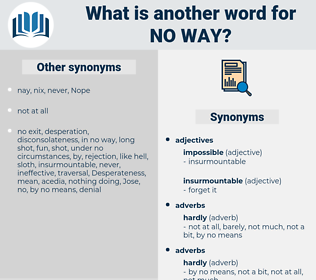 no way, synonym no way, another word for no way, words like no way, thesaurus no way