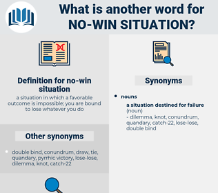 no-win situation, synonym no-win situation, another word for no-win situation, words like no-win situation, thesaurus no-win situation