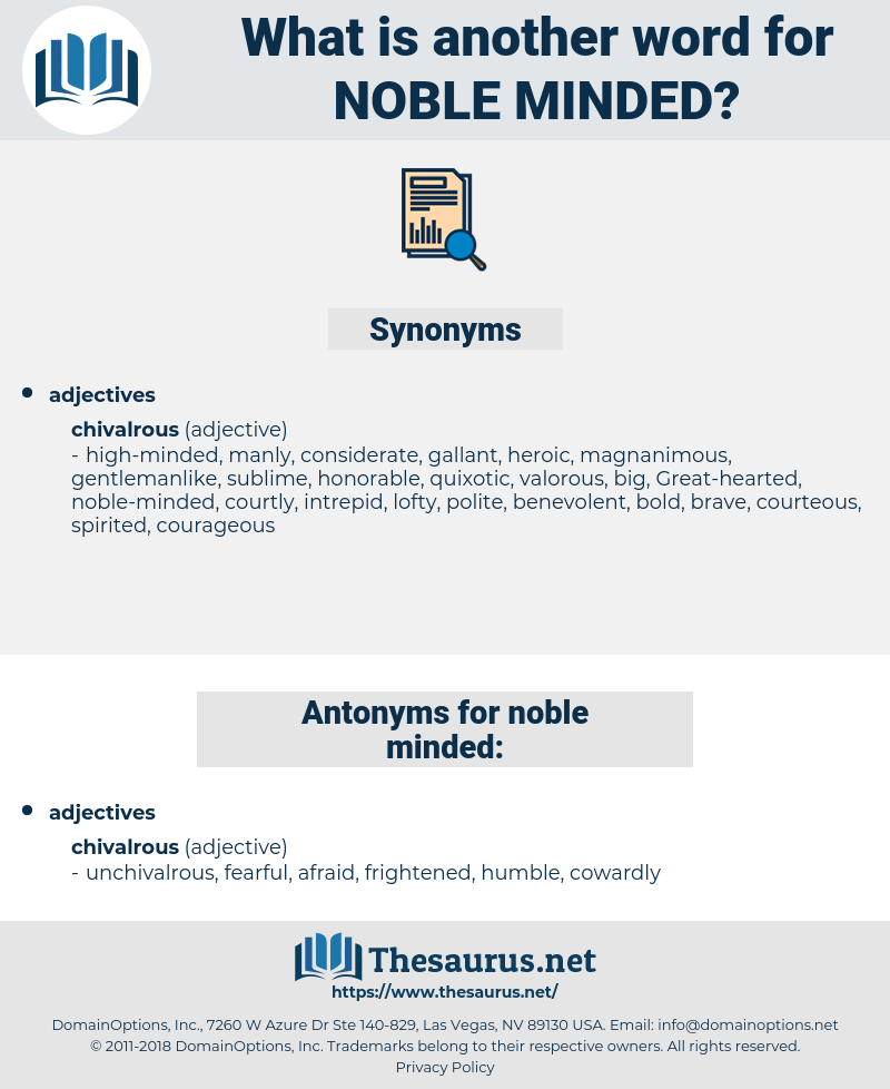 noble-minded, synonym noble-minded, another word for noble-minded, words like noble-minded, thesaurus noble-minded