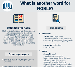 noble, synonym noble, another word for noble, words like noble, thesaurus noble