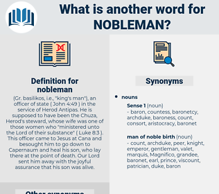 nobleman, synonym nobleman, another word for nobleman, words like nobleman, thesaurus nobleman