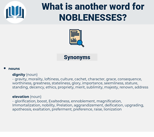 noblenesses, synonym noblenesses, another word for noblenesses, words like noblenesses, thesaurus noblenesses