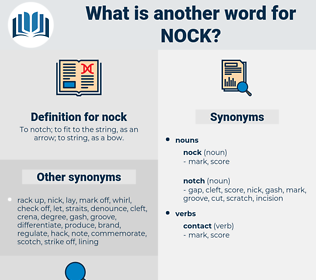 nock, synonym nock, another word for nock, words like nock, thesaurus nock