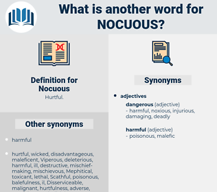 Nocuous, synonym Nocuous, another word for Nocuous, words like Nocuous, thesaurus Nocuous