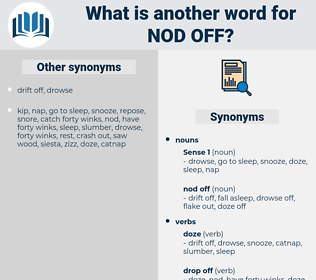 nod off, synonym nod off, another word for nod off, words like nod off, thesaurus nod off