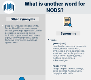 nods, synonym nods, another word for nods, words like nods, thesaurus nods