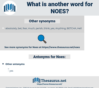 Noes, synonym Noes, another word for Noes, words like Noes, thesaurus Noes