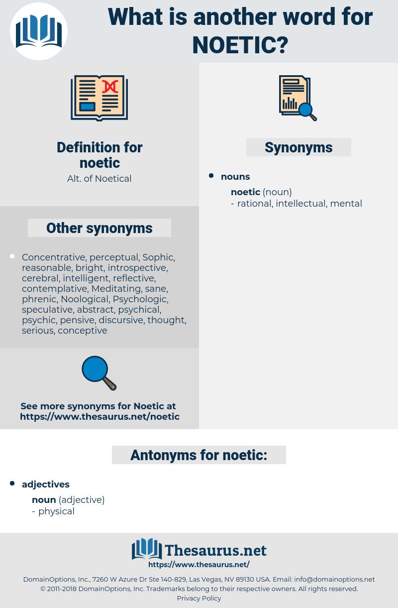 noetic, synonym noetic, another word for noetic, words like noetic, thesaurus noetic