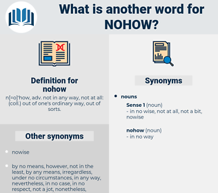 nohow, synonym nohow, another word for nohow, words like nohow, thesaurus nohow