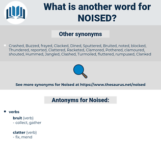 Noised, synonym Noised, another word for Noised, words like Noised, thesaurus Noised