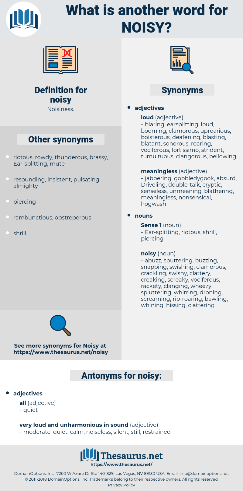 noisy, synonym noisy, another word for noisy, words like noisy, thesaurus noisy