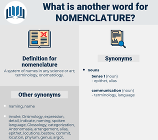 nomenclature, synonym nomenclature, another word for nomenclature, words like nomenclature, thesaurus nomenclature