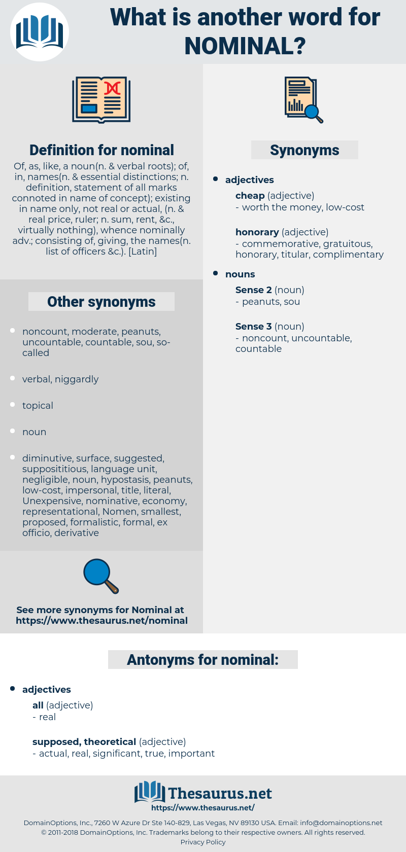 nominal, synonym nominal, another word for nominal, words like nominal, thesaurus nominal