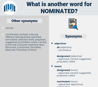 nominated, synonym nominated, another word for nominated, words like nominated, thesaurus nominated