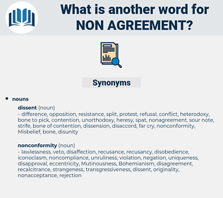 non agreement, synonym non agreement, another word for non agreement, words like non agreement, thesaurus non agreement