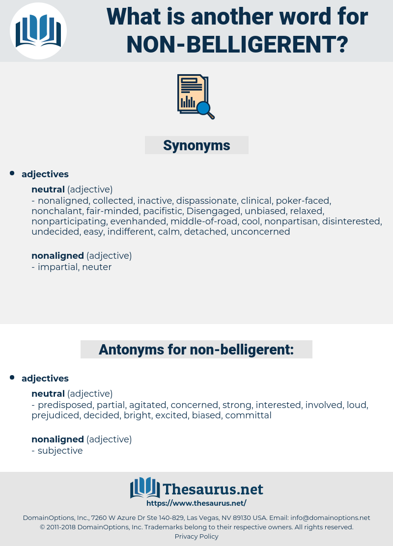 non-belligerent, synonym non-belligerent, another word for non-belligerent, words like non-belligerent, thesaurus non-belligerent