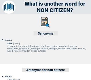 non citizen, synonym non citizen, another word for non citizen, words like non citizen, thesaurus non citizen