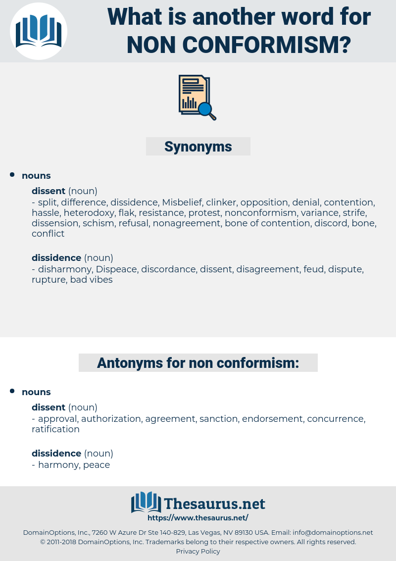 non conformism, synonym non conformism, another word for non conformism, words like non conformism, thesaurus non conformism
