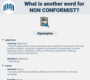 non conformist, synonym non conformist, another word for non conformist, words like non conformist, thesaurus non conformist