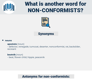 non conformists, synonym non conformists, another word for non conformists, words like non conformists, thesaurus non conformists