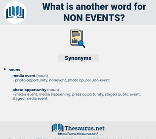 non-events, synonym non-events, another word for non-events, words like non-events, thesaurus non-events