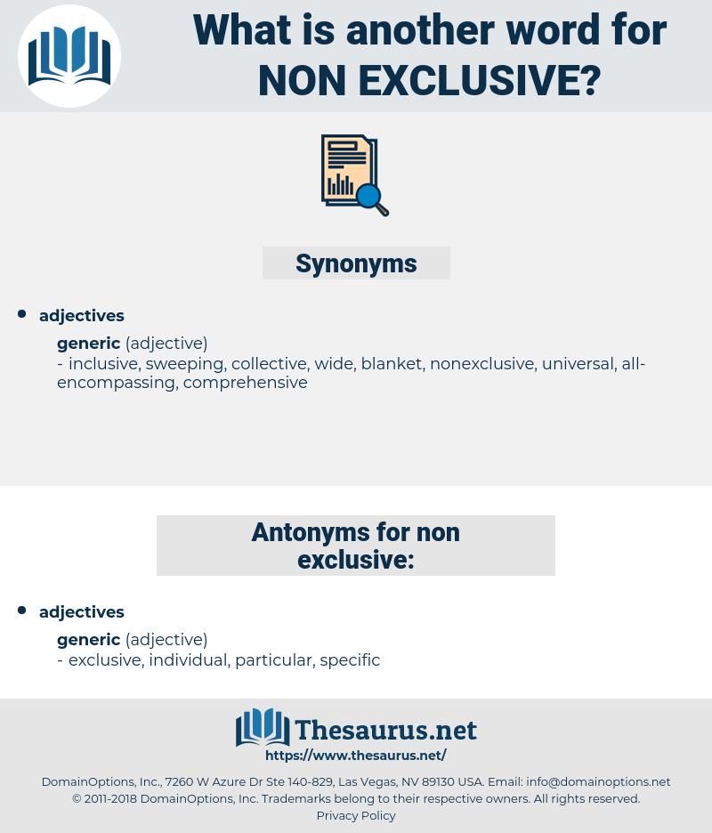 non-exclusive, synonym non-exclusive, another word for non-exclusive, words like non-exclusive, thesaurus non-exclusive