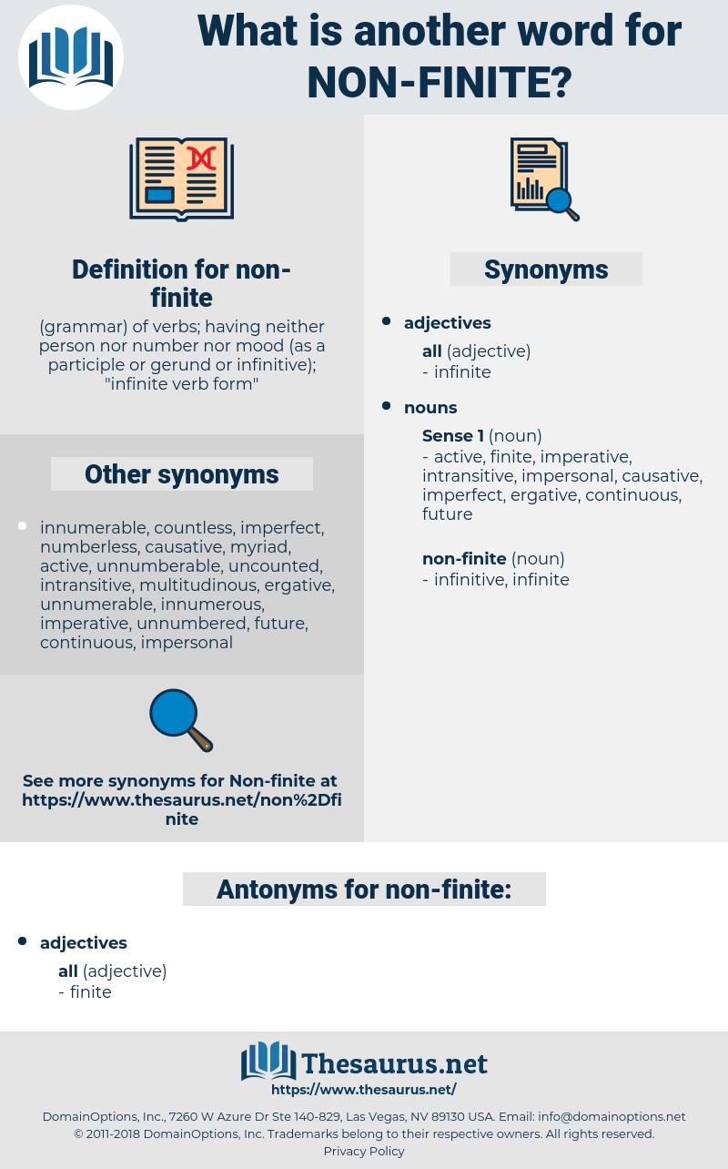 non-finite, synonym non-finite, another word for non-finite, words like non-finite, thesaurus non-finite