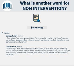 non-intervention, synonym non-intervention, another word for non-intervention, words like non-intervention, thesaurus non-intervention