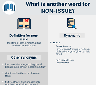 non-issue, synonym non-issue, another word for non-issue, words like non-issue, thesaurus non-issue