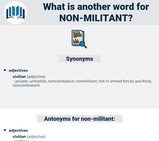 non-militant, synonym non-militant, another word for non-militant, words like non-militant, thesaurus non-militant