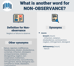 Non-observance, synonym Non-observance, another word for Non-observance, words like Non-observance, thesaurus Non-observance