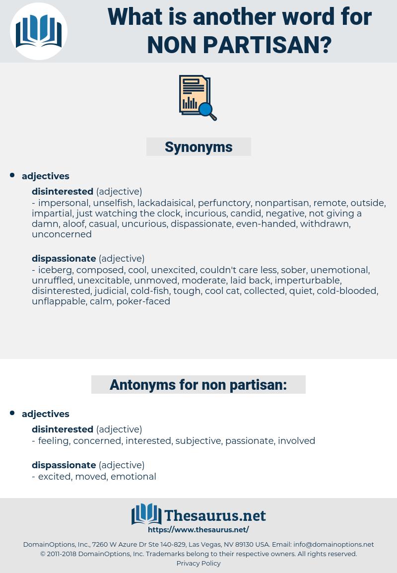 non-partisan, synonym non-partisan, another word for non-partisan, words like non-partisan, thesaurus non-partisan