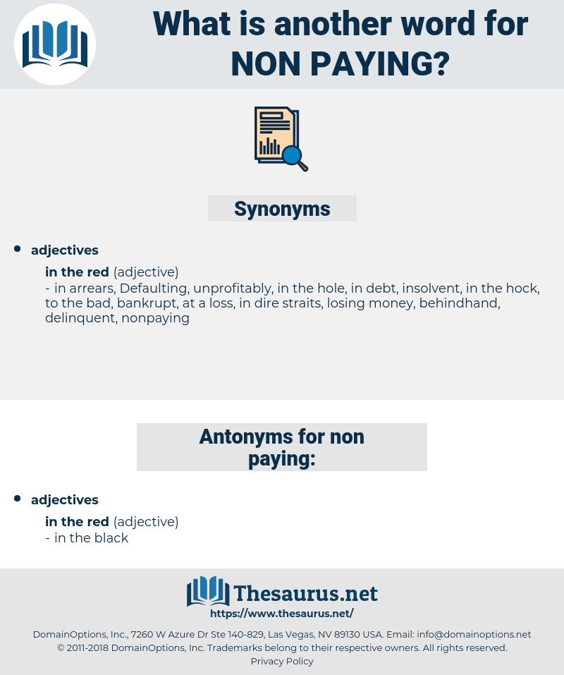 non-paying, synonym non-paying, another word for non-paying, words like non-paying, thesaurus non-paying