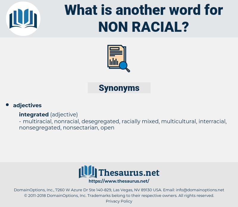 non-racial, synonym non-racial, another word for non-racial, words like non-racial, thesaurus non-racial