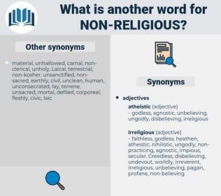 non-religious, synonym non-religious, another word for non-religious, words like non-religious, thesaurus non-religious