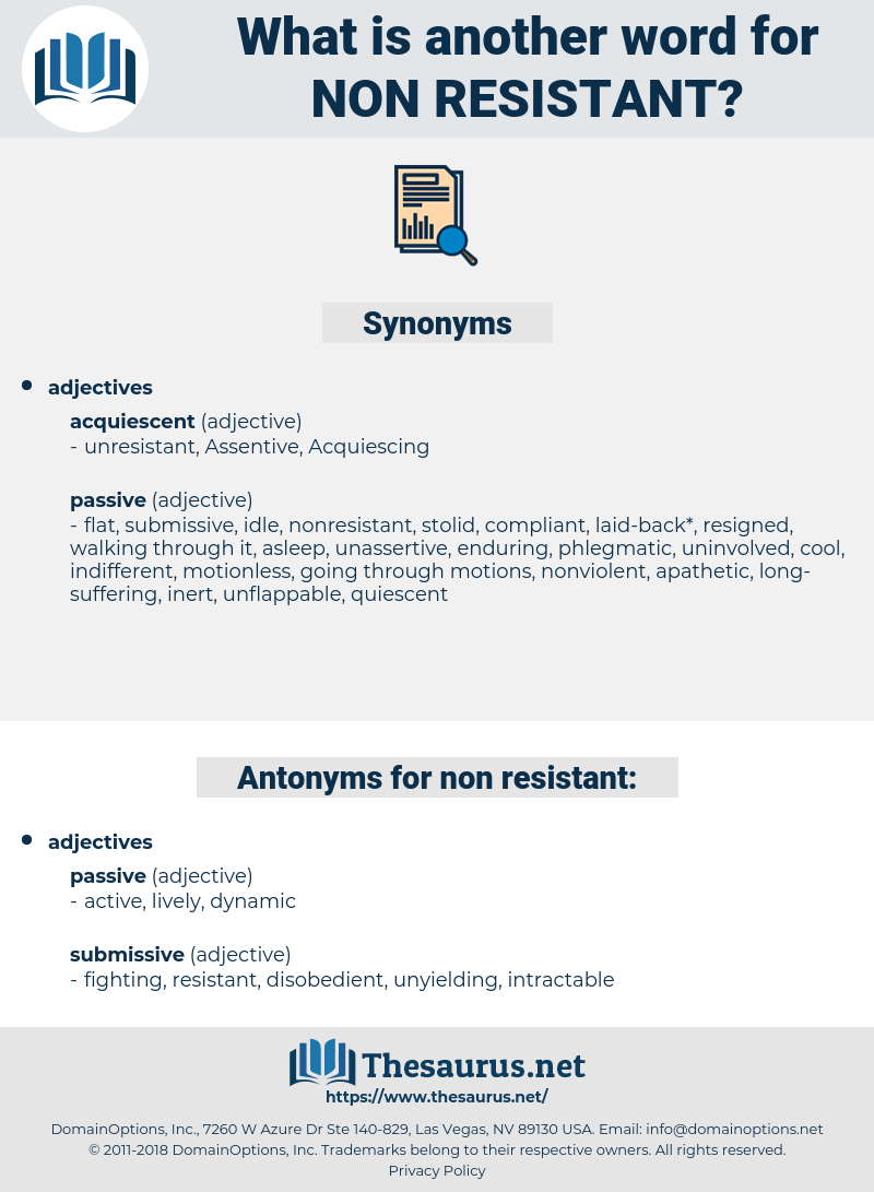 non-resistant, synonym non-resistant, another word for non-resistant, words like non-resistant, thesaurus non-resistant