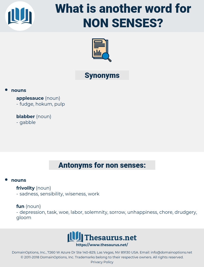 non-senses, synonym non-senses, another word for non-senses, words like non-senses, thesaurus non-senses