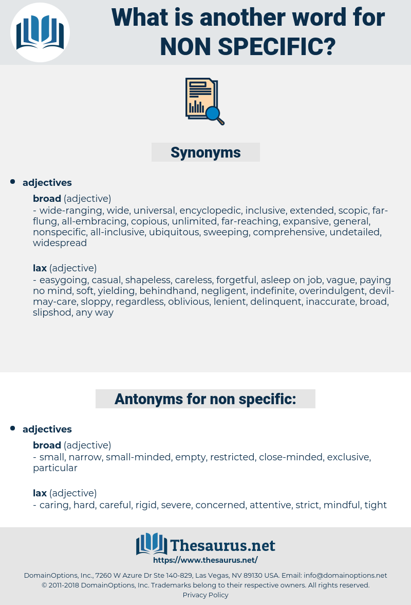 non-specific, synonym non-specific, another word for non-specific, words like non-specific, thesaurus non-specific