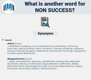 non-success, synonym non-success, another word for non-success, words like non-success, thesaurus non-success