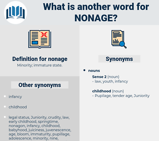 nonage, synonym nonage, another word for nonage, words like nonage, thesaurus nonage