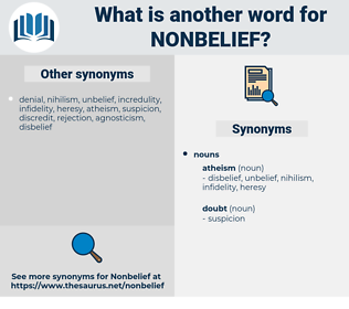 nonbelief, synonym nonbelief, another word for nonbelief, words like nonbelief, thesaurus nonbelief