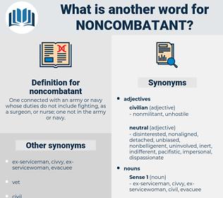 noncombatant, synonym noncombatant, another word for noncombatant, words like noncombatant, thesaurus noncombatant