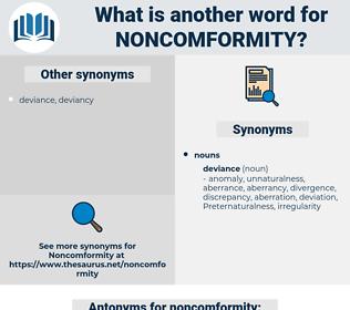 noncomformity, synonym noncomformity, another word for noncomformity, words like noncomformity, thesaurus noncomformity