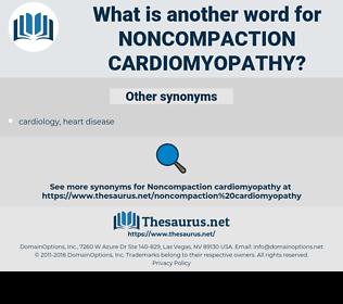 noncompaction cardiomyopathy, synonym noncompaction cardiomyopathy, another word for noncompaction cardiomyopathy, words like noncompaction cardiomyopathy, thesaurus noncompaction cardiomyopathy
